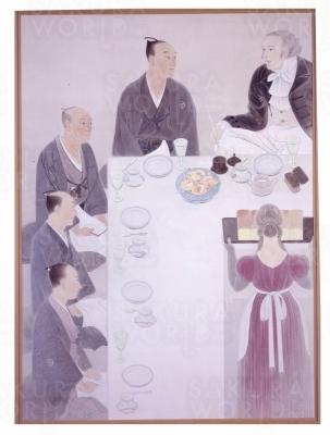Ⓒ《阿蘭陀正月(1965年)》(守屋多々志、大垣市蔵)