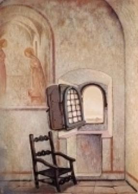 《アンジェリコの窓》(守屋多々志、大垣市所蔵)