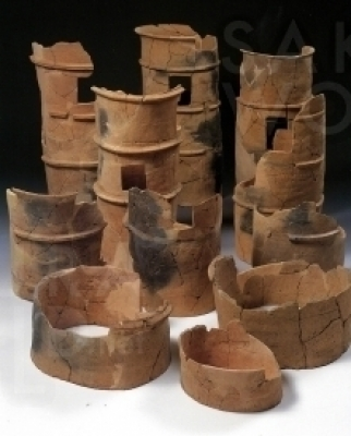 昼飯大塚古墳から発掘された埴輪