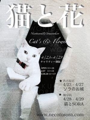 チャリティー個展「猫と花」