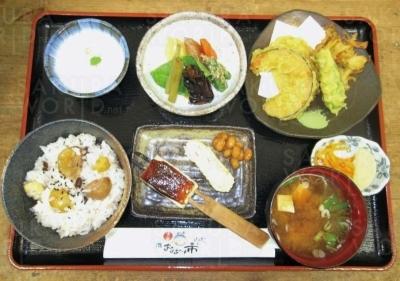 栗おこわ定食(1,200円)