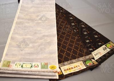 「琉球かすり」や「久米島紬」「結城紬」など、大垣では取扱いの少ない珍しい反物が揃う、店主のセンスが光る品揃え。