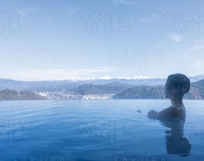 飛騨高山を一望できる至福の露天風呂