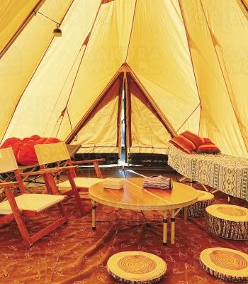 手ぶらでBBQとキャンプが楽しめるグランピングサイトもおしゃれ!