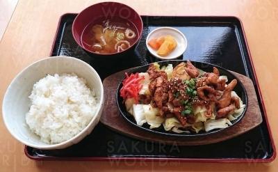 鶏ちゃん 鉄板焼き定食(880円)