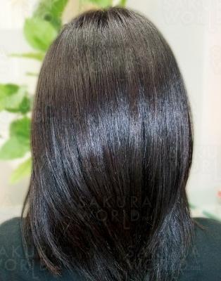 手触り良く扱いやすいサラサラ美髪へ。