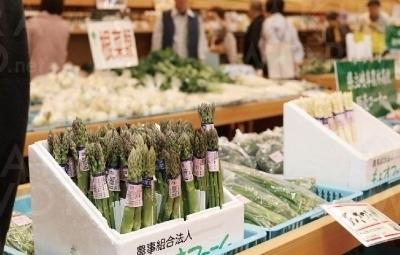 地元産の農産物(タケノコ・トマト・スナップエンドウ)を豊富に取り揃えた直売施設。